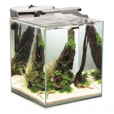Aquael Fish&Shrimp set duo (49 литров) белый креветкариум свет led фильтр нагреватель