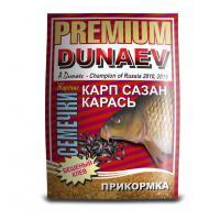 Прикормка Дунаев премиум Карп Сазан Жареная семечка