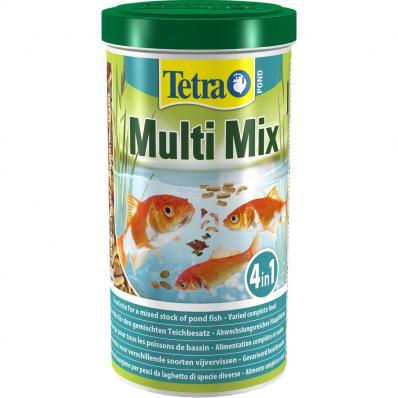 Корм для прудовых рыб TetraPond Multi Mix гранулы хлопья таблетки гаммарус 1л