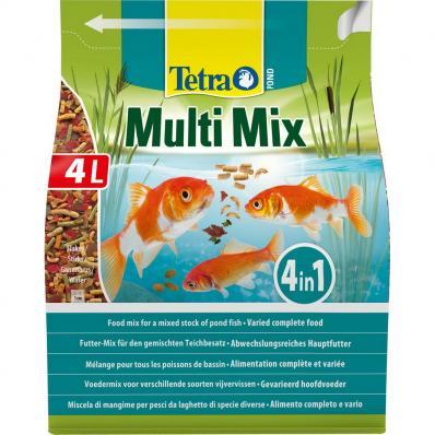 Корм для прудовых рыб TetraPond Multi Mix гранулы хлопья таблетки гаммарус 4л