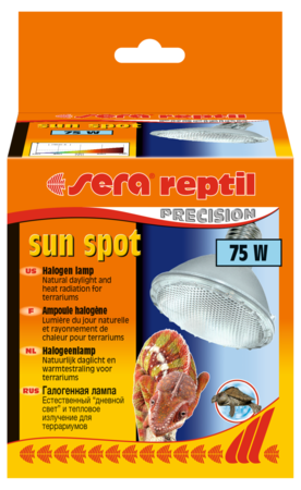 Лампа Sera reptil sun spot 75w