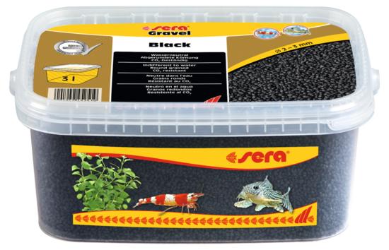 Sera грунт для аквариума Gravel Black  Ø 2-3 мм. 3 л.