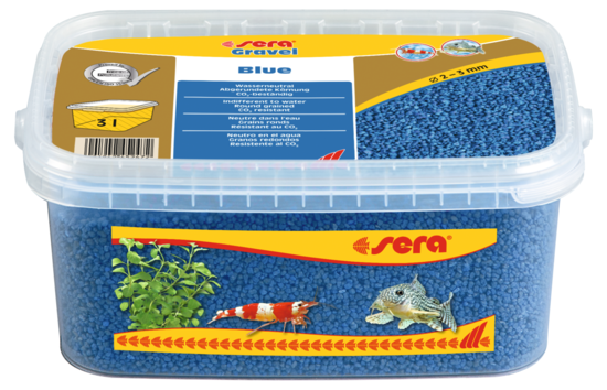 Sera грунт для аквариума Gravel Blue  Ø 2-3 мм. 3 л.