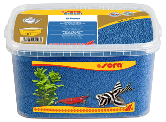 Sera грунт для аквариума Gravel Blue  Ø 2-3 мм. 6 л.