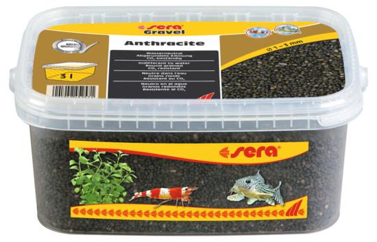 Sera грунт натуральный для аквариума Gravel Anthracite  Ø 1-3 мм. 3 л.