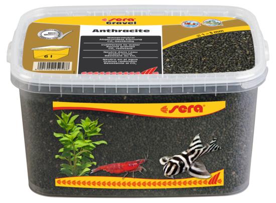 Sera грунт натуральный для аквариума Gravel Anthracite  Ø 1-3 мм. 6 л.