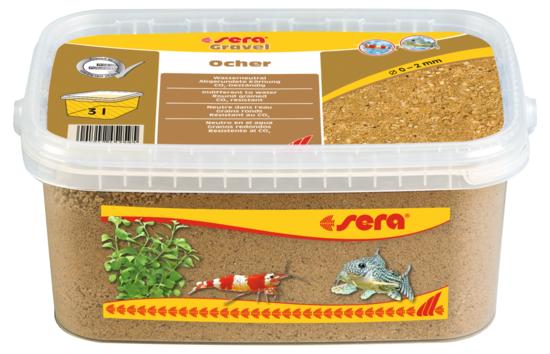 Sera грунт натуральный для аквариума Gravel Ocher  Ø 0–2 мм. 3 л.