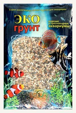 Грунт для аквариума ЭКОгрунт Галька Феодосия Мини 1-3 мм