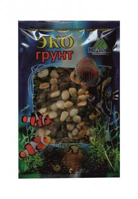 Грунт для аквариума ЭКОгрунт Галька Феодосия 10-15 мм