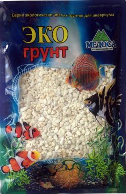 Грунт для аквариума ЭКОгрунт Мраморная крошка белая 2-5 мм