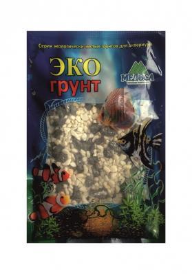 Грунт для аквариума ЭКОгрунт Мраморная крошка 2-5 мм чёрно/белая
