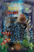 Грунт для аквариума ЭКОгрунт Мраморная крошка Черно-голубая 2-5 мм