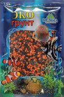 Грунт для аквариума ЭКОгрунт Мраморная крошка Черно-оранжевая 2-5 мм