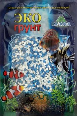 Грунт для аквариума ЭКОгрунт Мраморная крошка Бело-голубая 2-5 мм