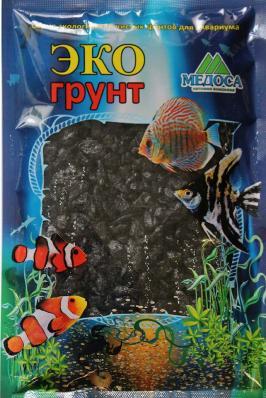Грунт для аквариума ЭКОгрунт Мраморная крошка Черная 2-5 мм