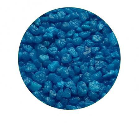 Грунт для аквариума ЭКОгрунт Мраморная крошка Голубая 2-5 мм