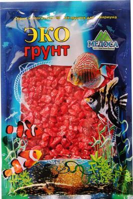 Грунт для аквариума ЭКОгрунт Мраморная крошка 5-10 мм Красная