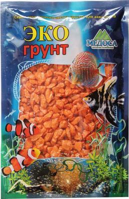 Грунт для аквариума ЭКОгрунт Мраморная крошка 5-10 мм Оранжевая