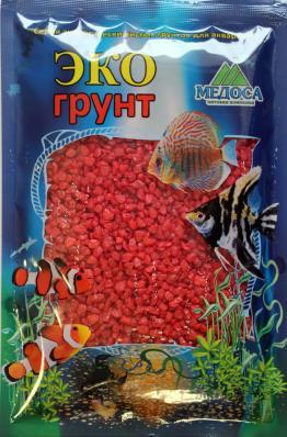 Грунт для аквариума ЭКОгрунт Мраморная крошка 2-5 мм Красная