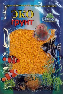 Грунт для аквариума ЭКОгрунт Мраморная крошка 2-5 мм Желтая