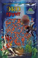 Грунт для аквариума ЭКОгрунт Мраморная крошка 2-5 мм Оранжево-голубая