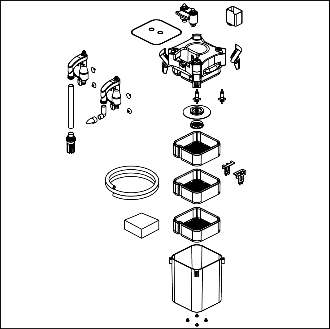 Внешний фильтр SICCE WHALE 120 черный