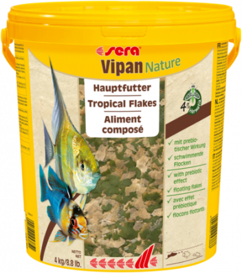 Корм для рыб SERA VIPAN NATURE 21л (4кг) крупные хлопья