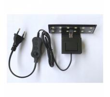 Аквариумный светодиодный светильник ALEAS X3 LEDx12, 5w, черный
