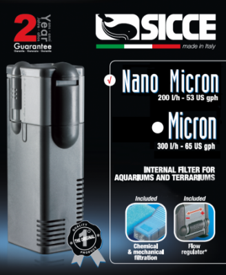 Внутренний фильтр для аквариума SICCE Nano