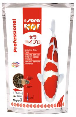 Корм для прудовых рыб SERA KOI Prof. Spirulina Color 500 г