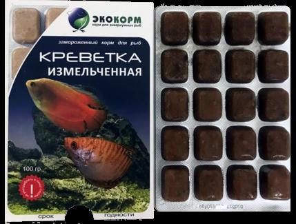 Креветка измельченная замороженная в блистерной упаковке