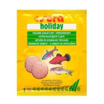Корм для рыб SERA Holiday 2 таблетки (пакетик)