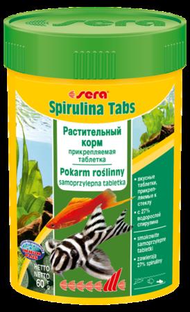 Корм для рыб SERA Spirulina Tabs 100 мл (60 г) (100 таб)