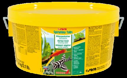 Корм для рыб SERA Spirulina Tabs 2000 мл (1,4 кг)