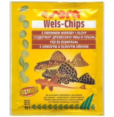Корм для рыб SERA Wels Chips 15 г (пакетик)