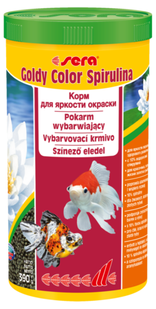 Корм для рыб SERA Goldy Color Spirulina 1000 мл (390 г)