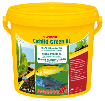 Корм для рыб SERA Cichlid Green XL 3,8 л (1,3 кг)