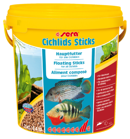 Корм для рыб SERA Cichlids Sticks 10 л (2 кг) (ведро)
