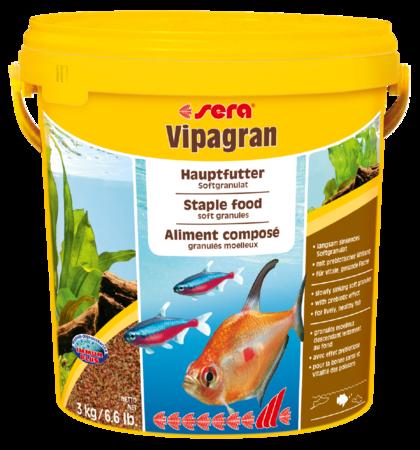 Корм для рыб SERA Vipagran 10 л (3 кг) (ведро)