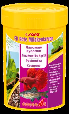 Корм для рыб SERA FD Bloodworms (мотыль) 100 мл (9 г)